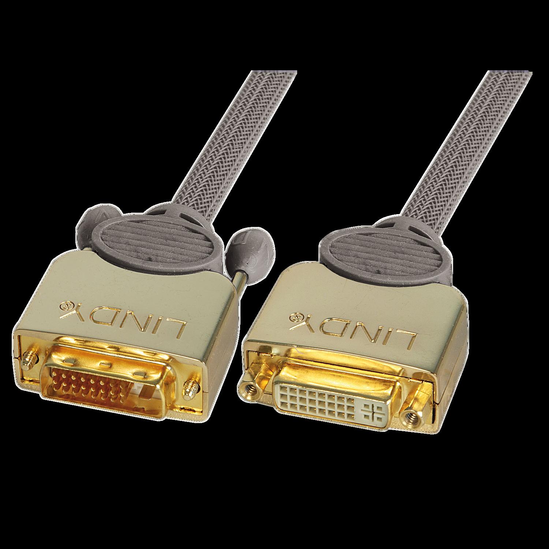 GOLD DVI-D Dual Link M/F 2m