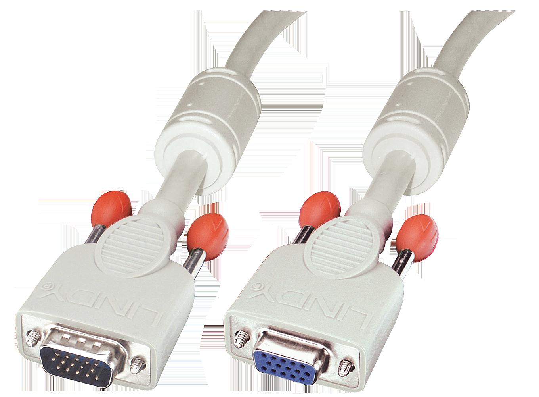 VGA Verlängerungskabel, DDC-fähig, 15 pol. HD Stecker/Kupplung 1m