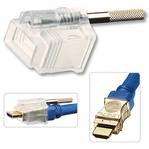 HDMI Steckerschloss für HDMI Premium Gold Kabel Art.-Nr. 37400-09 (großer Abstand zur Schraube)