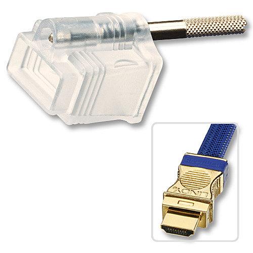 HDMI Steckerschloss für HDMI Premium Gold Kabel Art.-Nr. 37410 bis 37415 (großer Abstand zur Schraube)