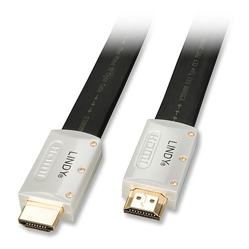 High-Speed HDMI® Flachbandkabel Silver mit Ethernet 3m