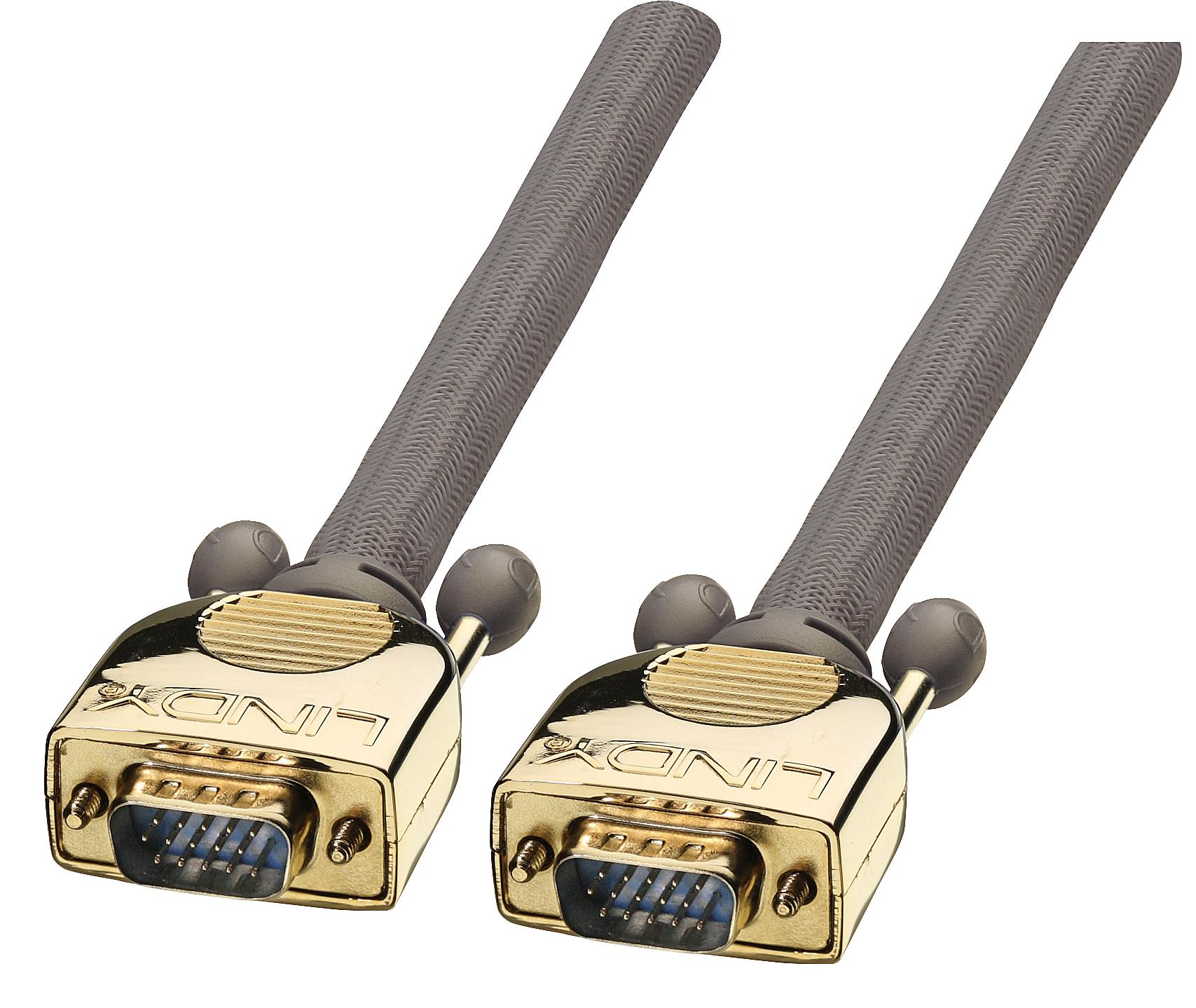 GOLD VGA Kabel M/M 5m