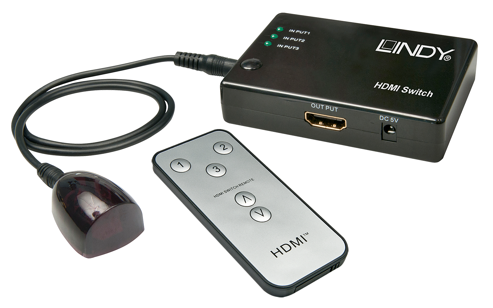 Compact HDMI Switch 3:1 Remote 3D