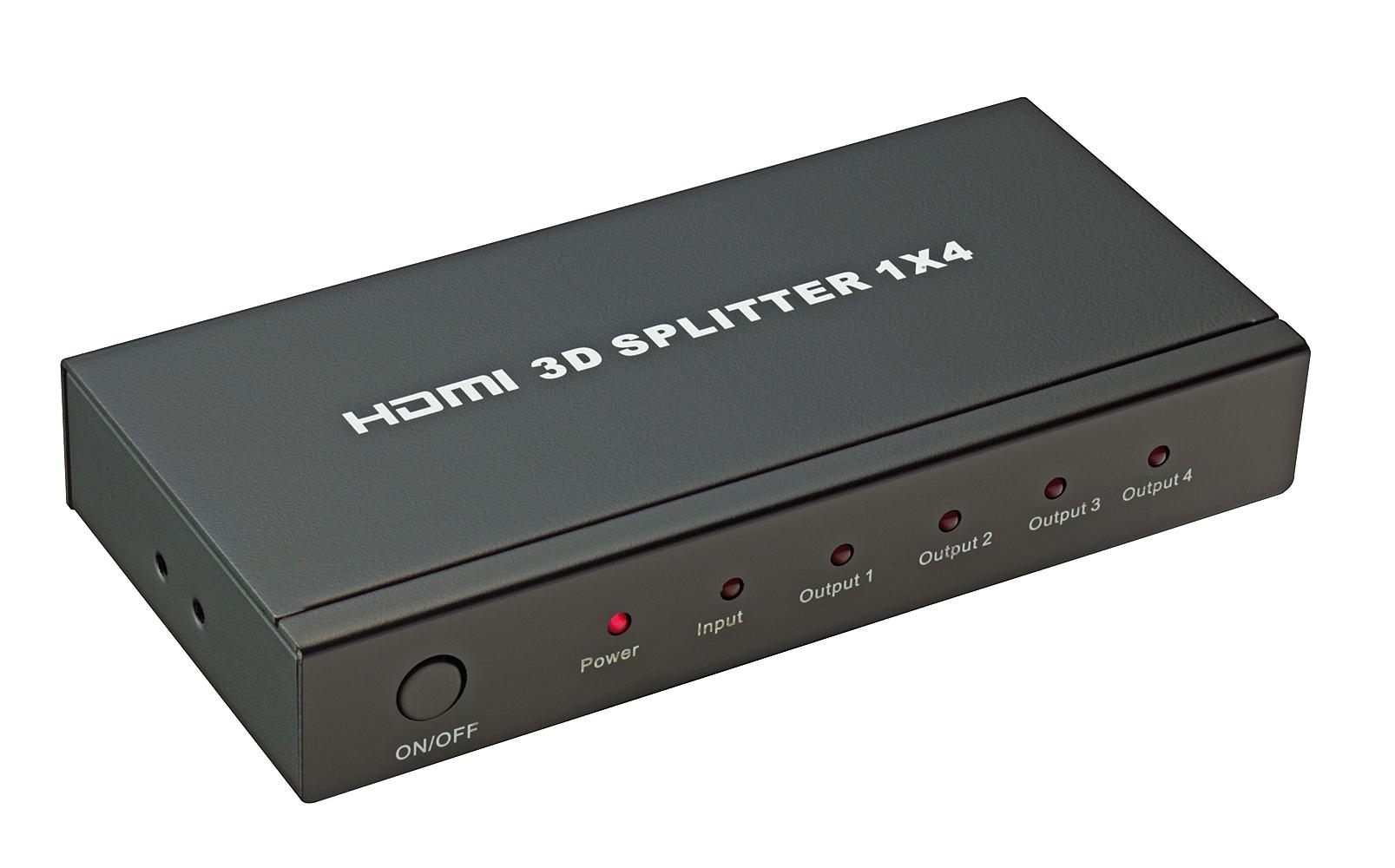 HDMI 4K UHD Splitter 4 Port 3D, 2160p30