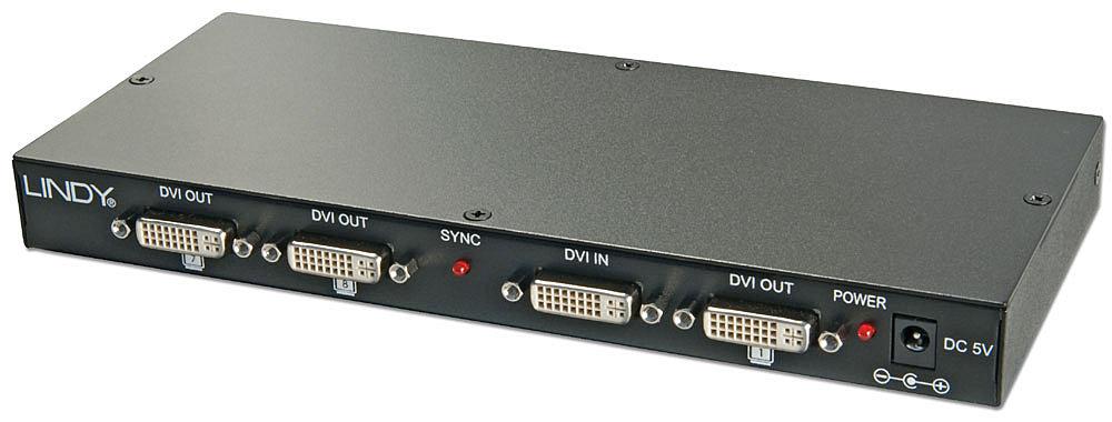 DVI & HDTV Splitter 1:8