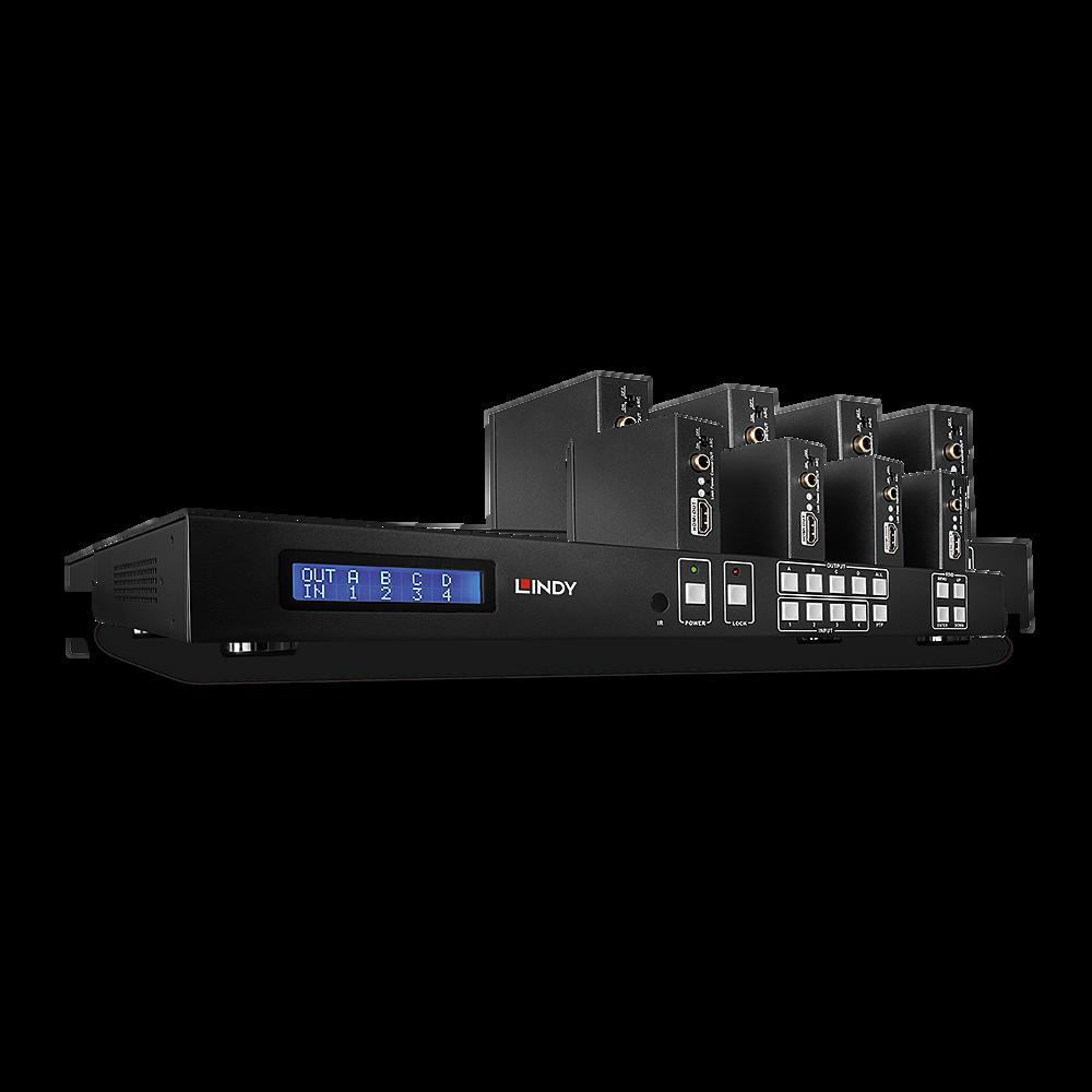 HDMI & IR Cat.6 Extender 4x4 Matrix Komplettsystem, 50m