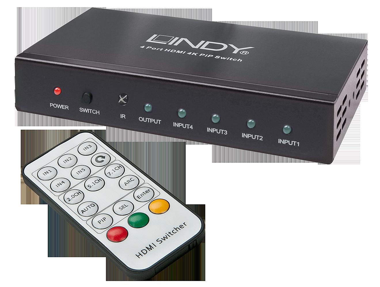 HDMI 4K UHD 4:1 Umschalter mit PiP Funktion