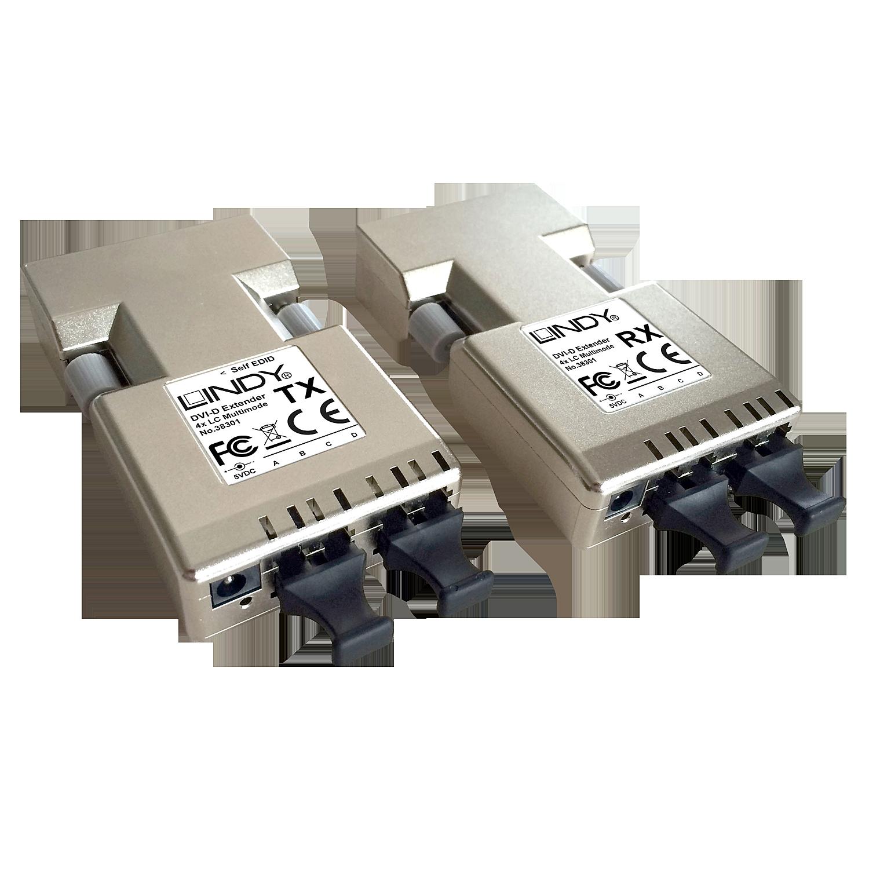 DVI-D Extender 500m Fiber/LWL 2x Duplex LC (50µm)