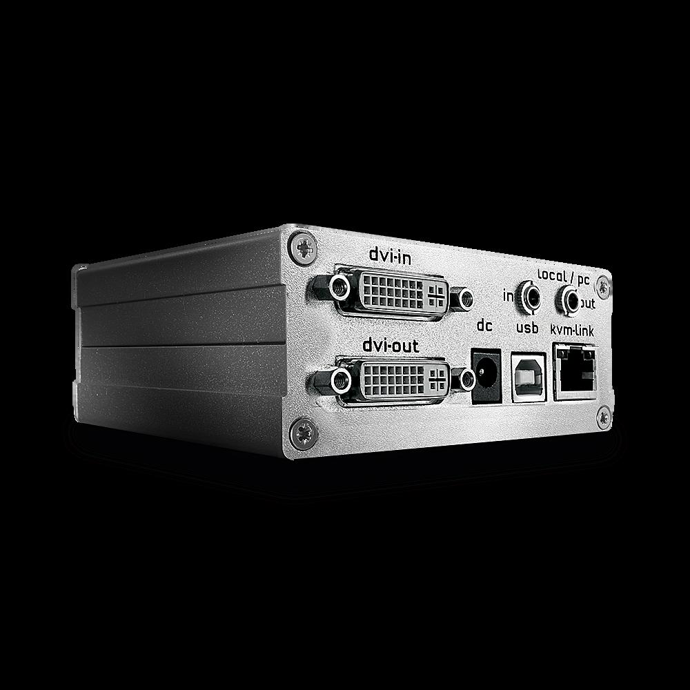 KVM Extender DVI-D & USB 2.0 130m - Transmitter (Basismodell mit DVI Anschluss und erweiterten Optionen)