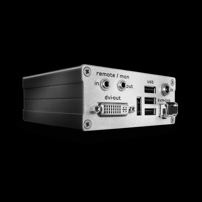 KVM Extender DVI-D & USB 2.0 500m - Receiver (Basismodell mit LWL Duplex LC Verbindung)