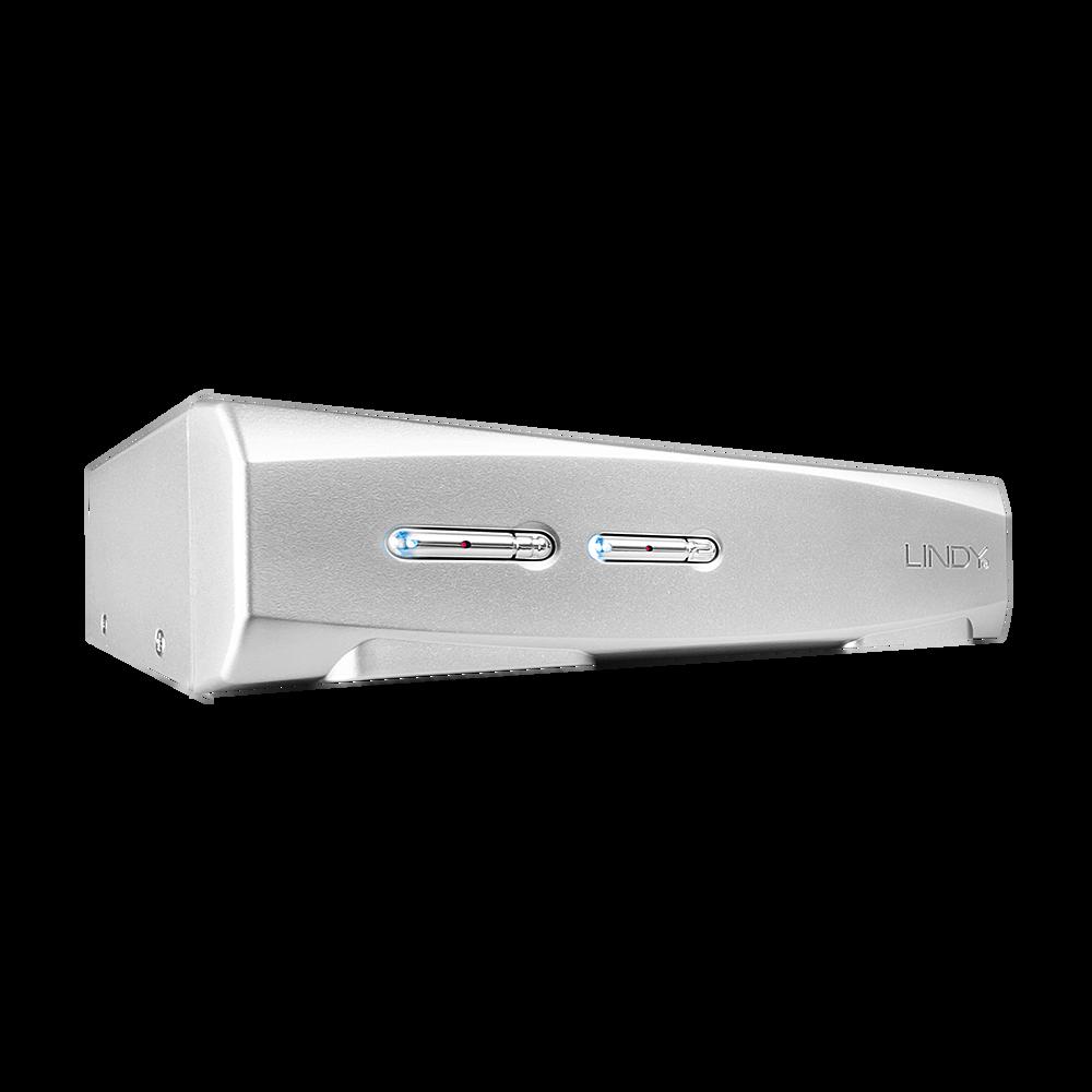 KVM Switch PRO USB 2.0 Audio DVI 2 Port, Mac & PC, mit Kabeln