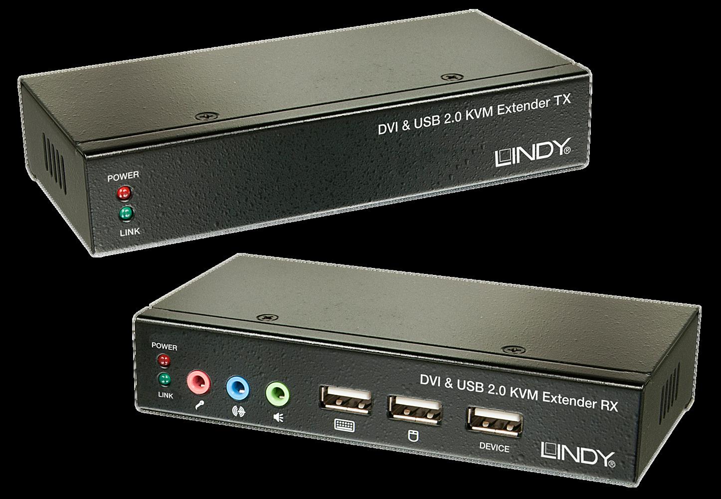 Cat.5 KVM Extender Classic DVI USB Audio, 50m