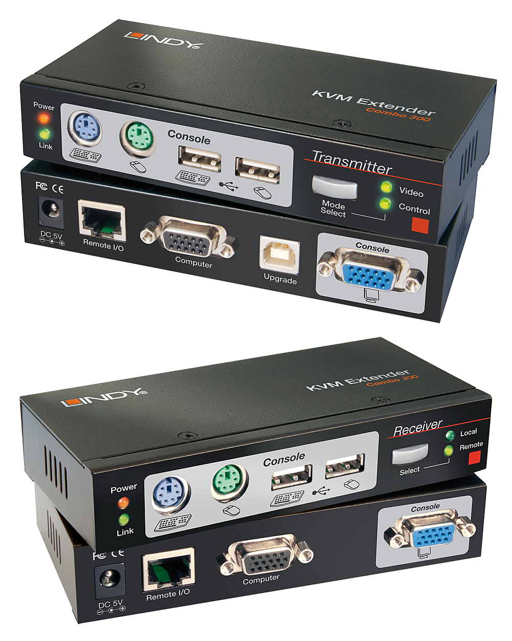 Cat.5 KVM Extender Combo 300, PS/2, USB & VGA