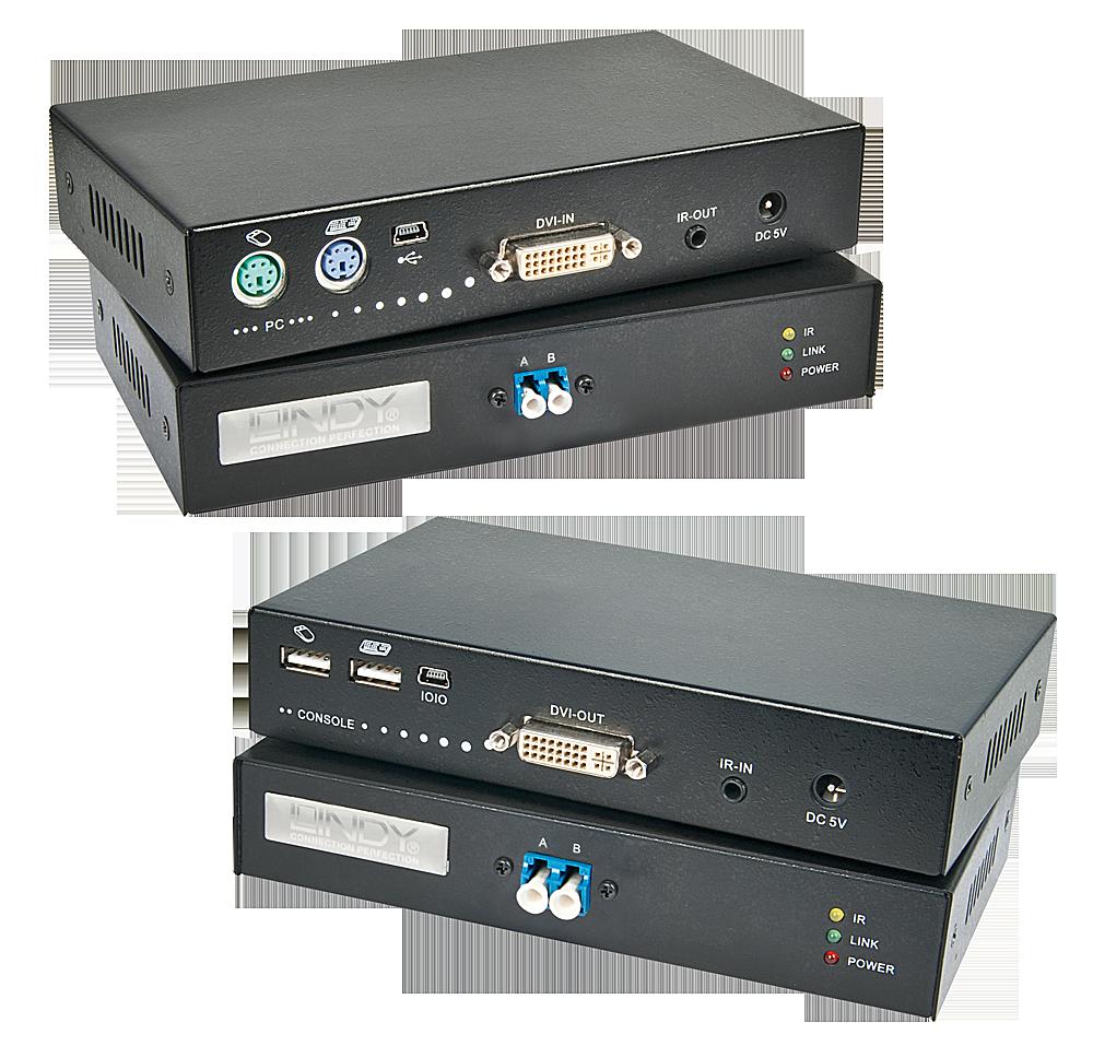 DVI KVM Extender Fiber / LWL 5km