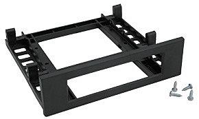 Einbaurahmen 3,5 extern zugänglich für Floppy o.ä., schwarz
