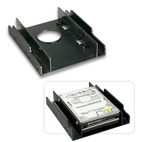 Einbaurahmen für zwei 2,5\-Festplatten in einem 3,5\-Schacht