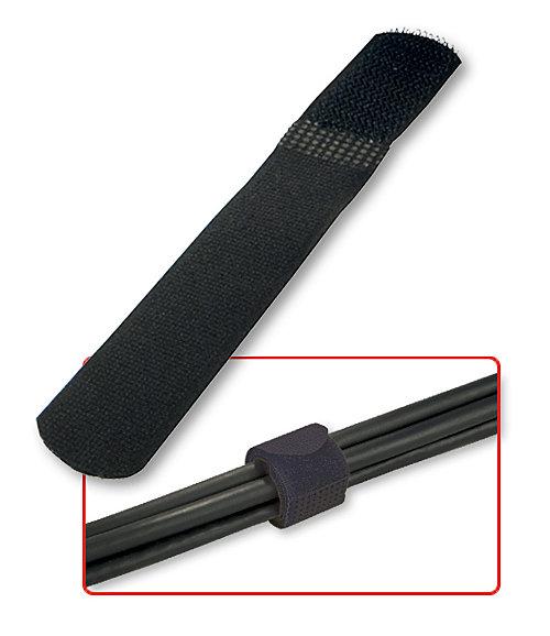 Klett - Kabelbinder, 10 Stück, schwarz