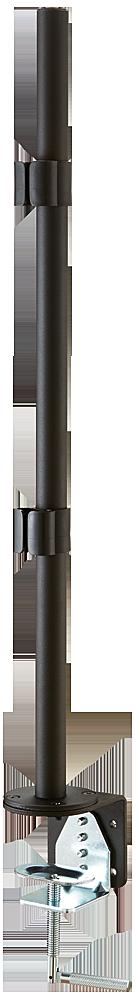 Tischhalterungsmodul 70cm-schwarz, mit Klemmhalter