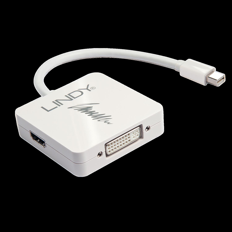 Mini-DP 1.2 an DP 4K60 / HDMI 4K30 / DVI Adapter