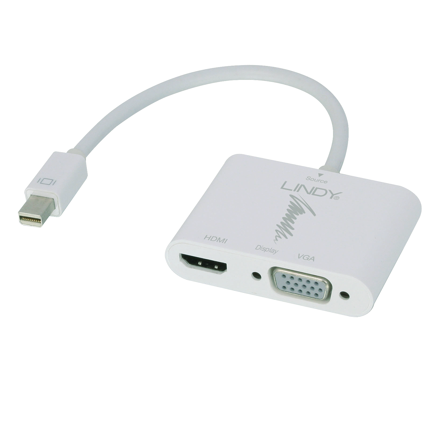 Mini-DisplayPort 1.2 an HDMI 4K & VGA Adapter (aktiv)