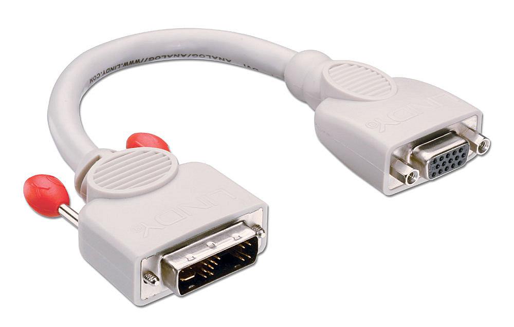 DVI-I-Adapter DVI-A Stecker an VGA Kupplung