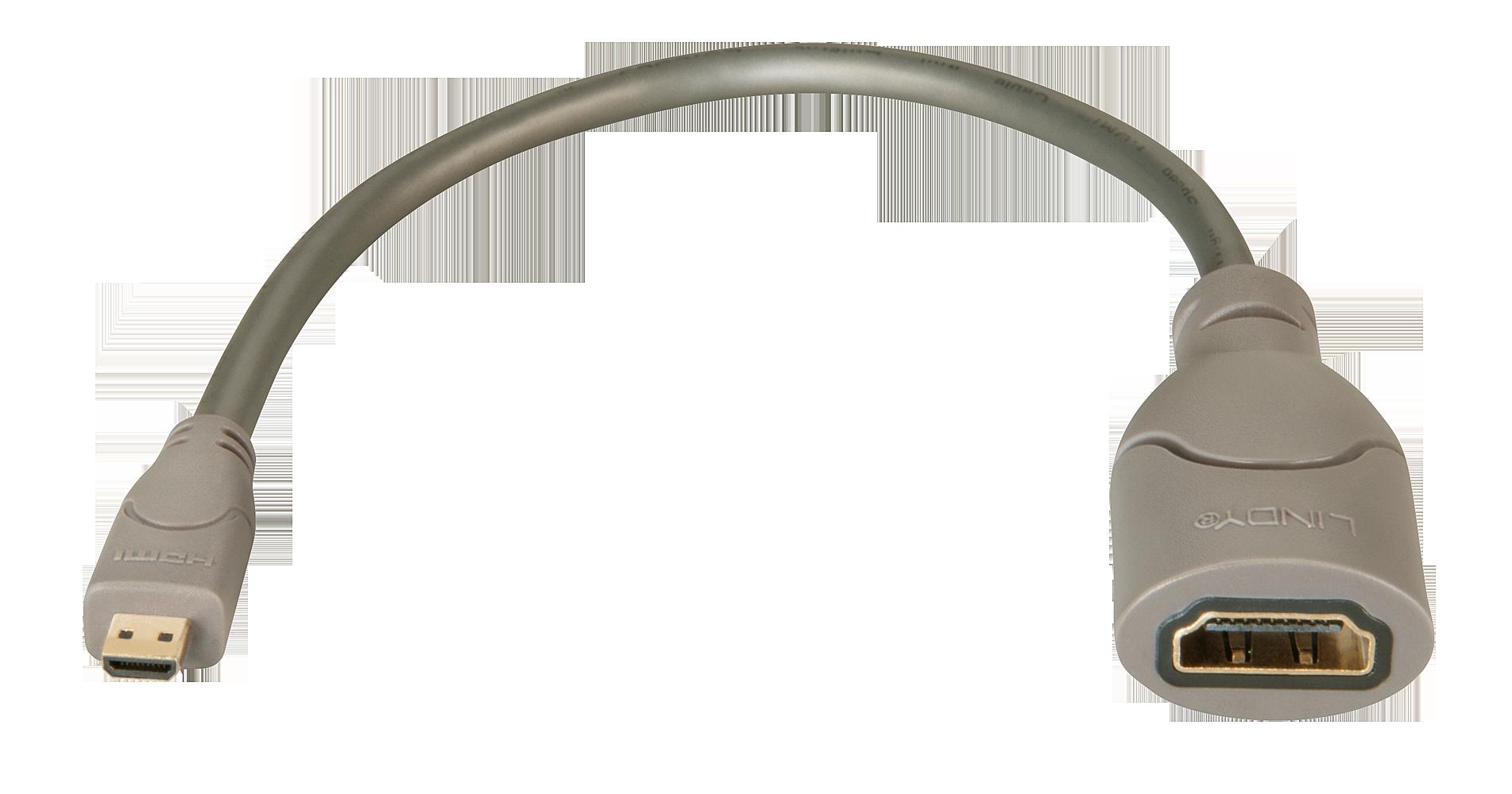 Adapterkabel HDMI (Kupp.) an HDMI Micro (St.), ca. 0,15m