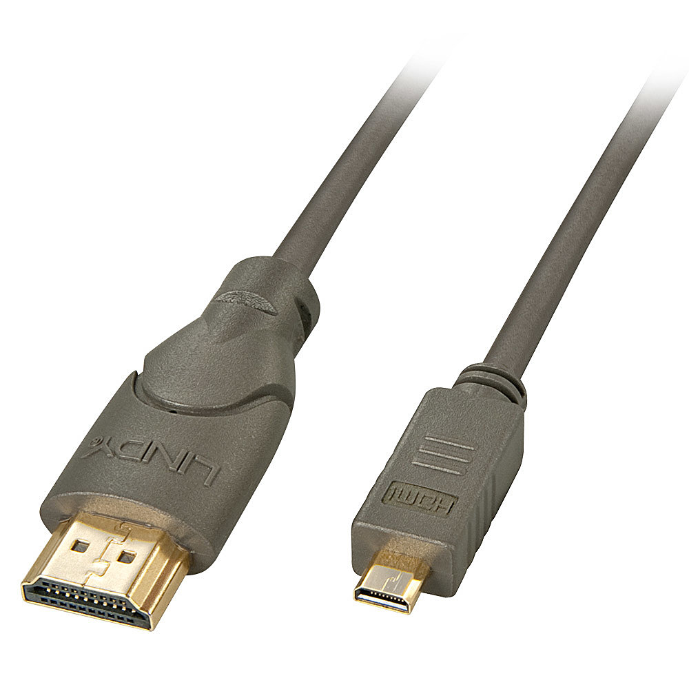 High-Speed-HDMI®-Kabel, Typ A/D (Micro), 2,0m