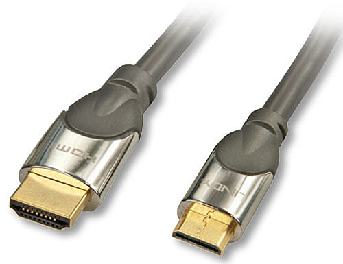 CROMO® High-Speed-HDMI-Kabel mit Ethernet, Typ A/C, 1m