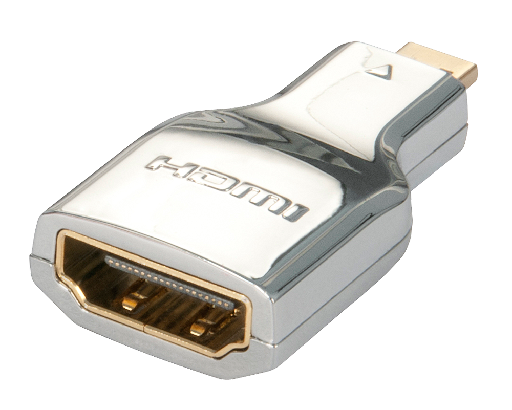 CROMO Adapter HDMI (Kupplung) an HDMI Micro (Stecker)