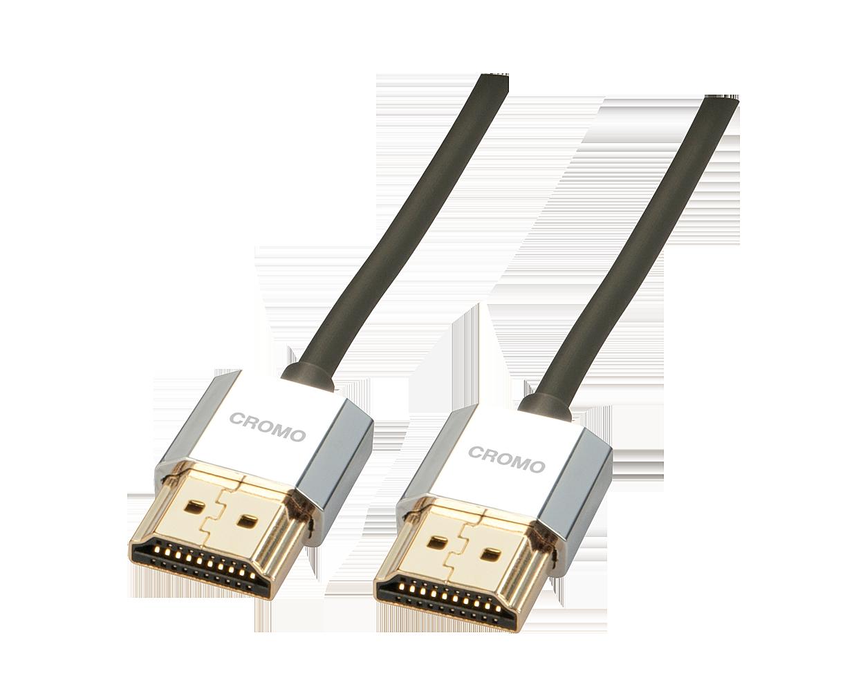 CROMO® Slim High-Speed-HDMI®-Kabel mit Ethernet, Typ A/A, 2m