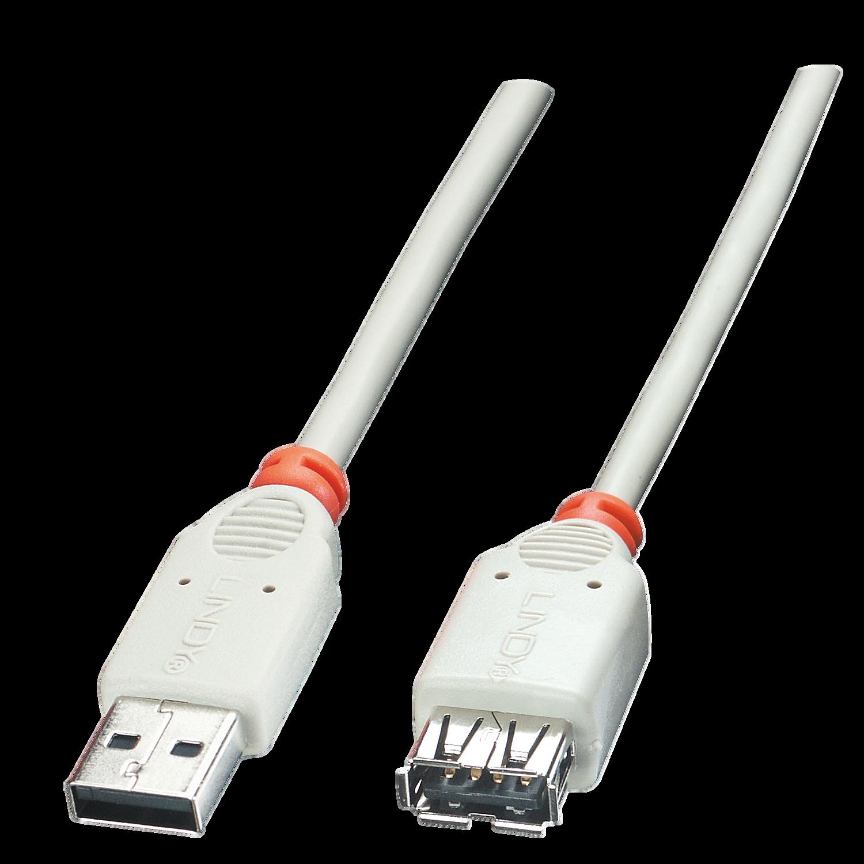 USB 2.0 Verlängerung AM/AF, grau, 0,2m