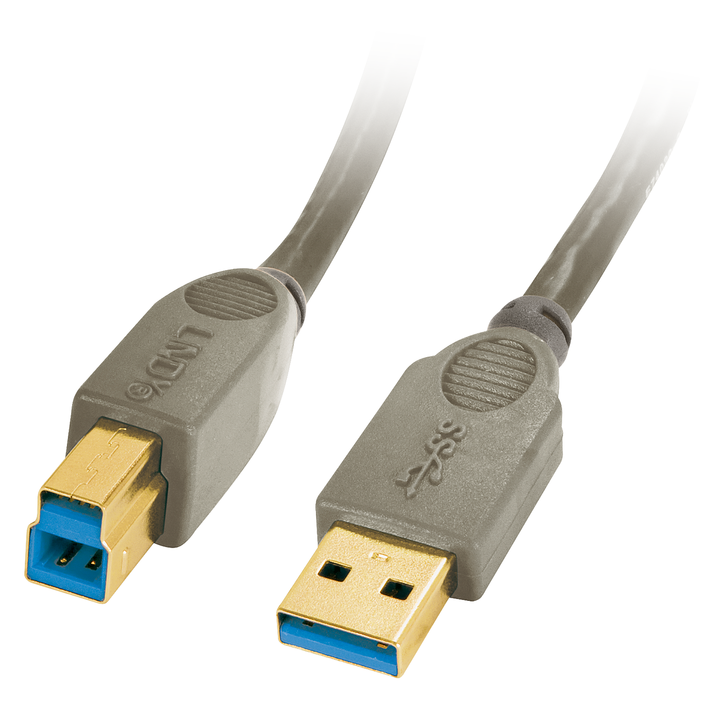 Premium USB 3.0 Kabel A/B, 0,5m