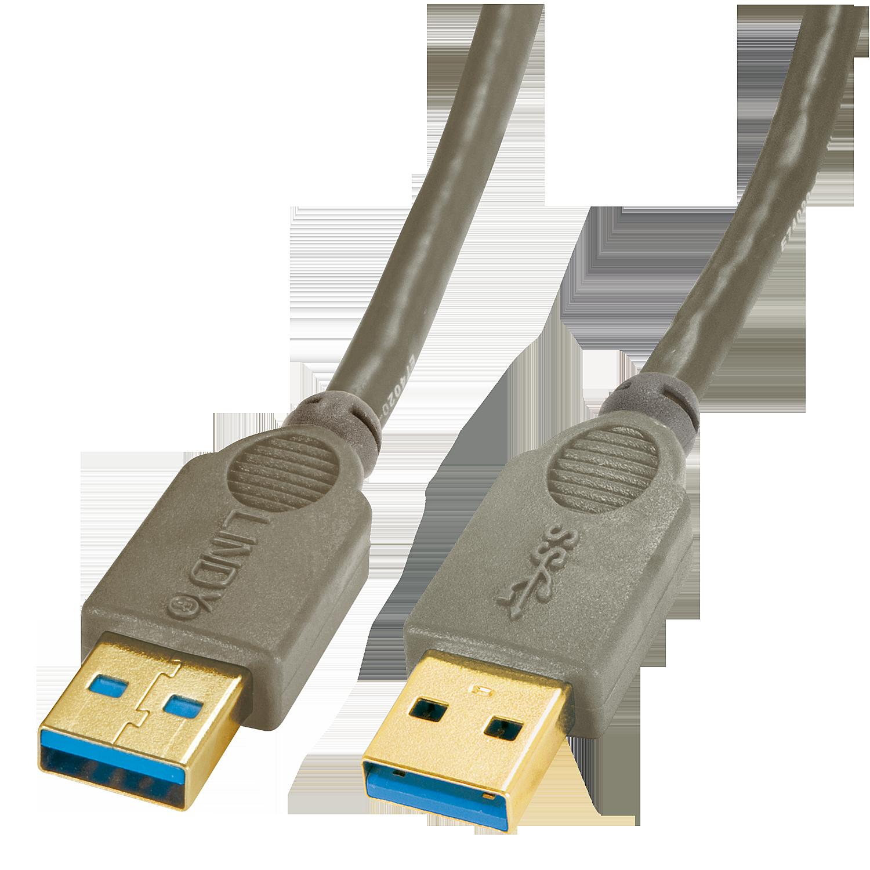 Premium USB 3.0 Kabel A/A, 3m