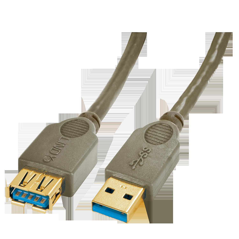 Premium USB 3.0 Verlängerung, 0,5m