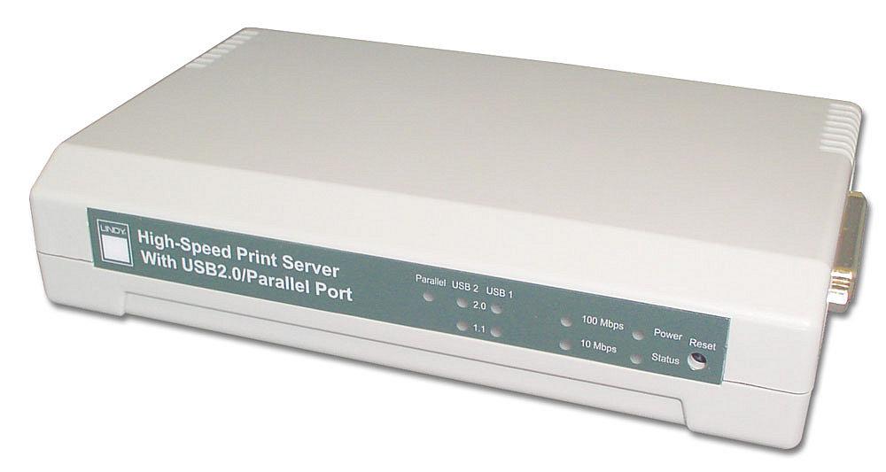USB2.0 + Parallel LAN Print Server 10/100