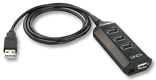 USB 2.0 Hub 4 Port mit Netzteil