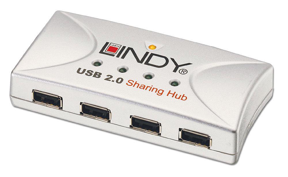 USB 2.0 Sharing Hub 2 Rechner / 4 Devices