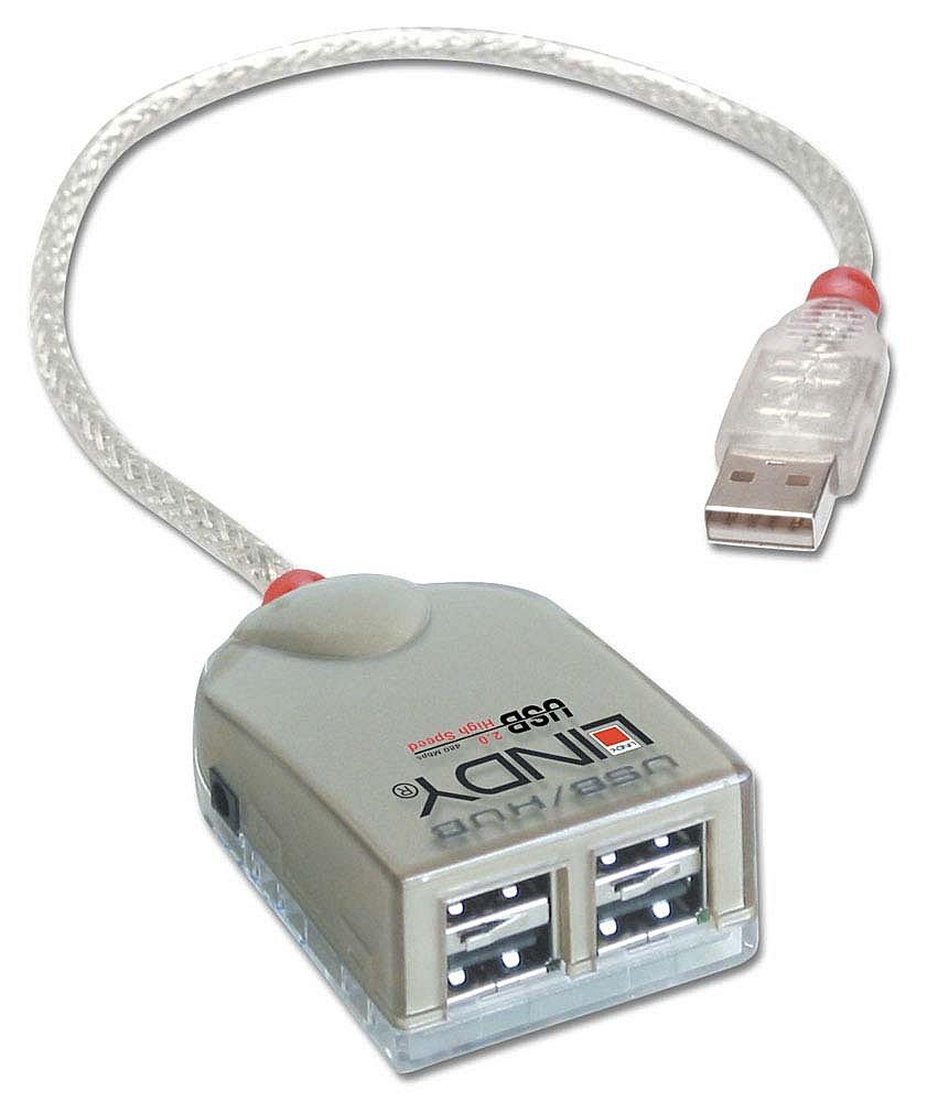 USB 2.0 Smart PRO Hub 4 Port, mit Netzteil