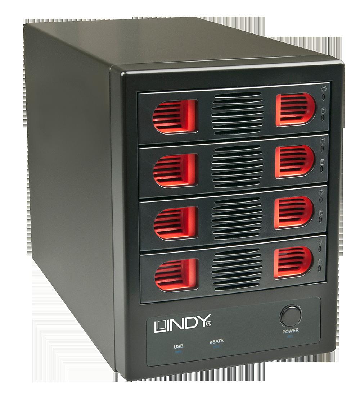 USB 3.0 & eSATA Quad Drive Gehäuse