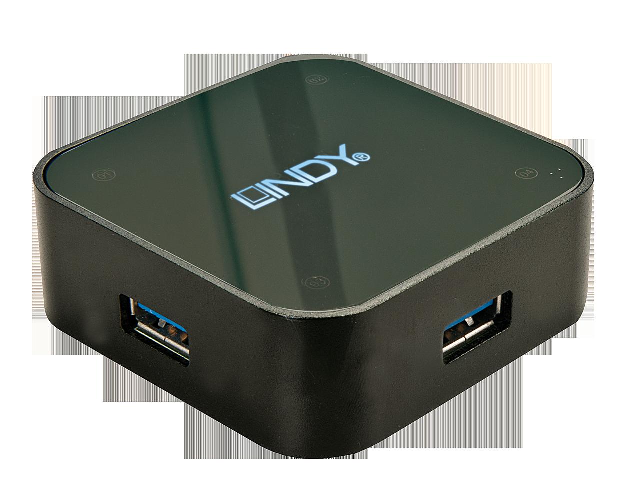 USB 3.0 Hub, 4 Port, Aluminiumgeh�use