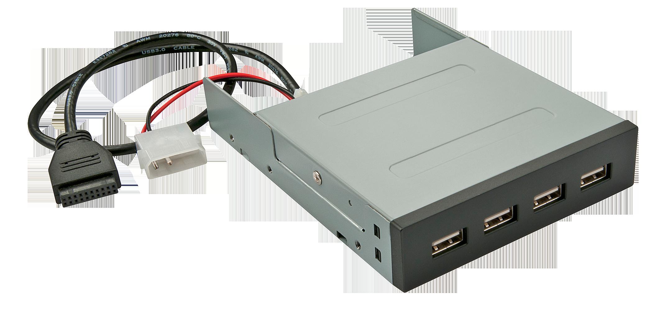 3,5 USB 3.0 Hub mit 19pin Mainboardanschluss