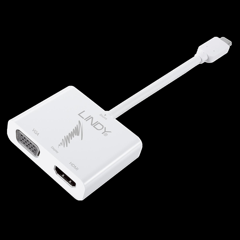USB 3.1 Typ C Dual Display Adapter HDMI & VGA