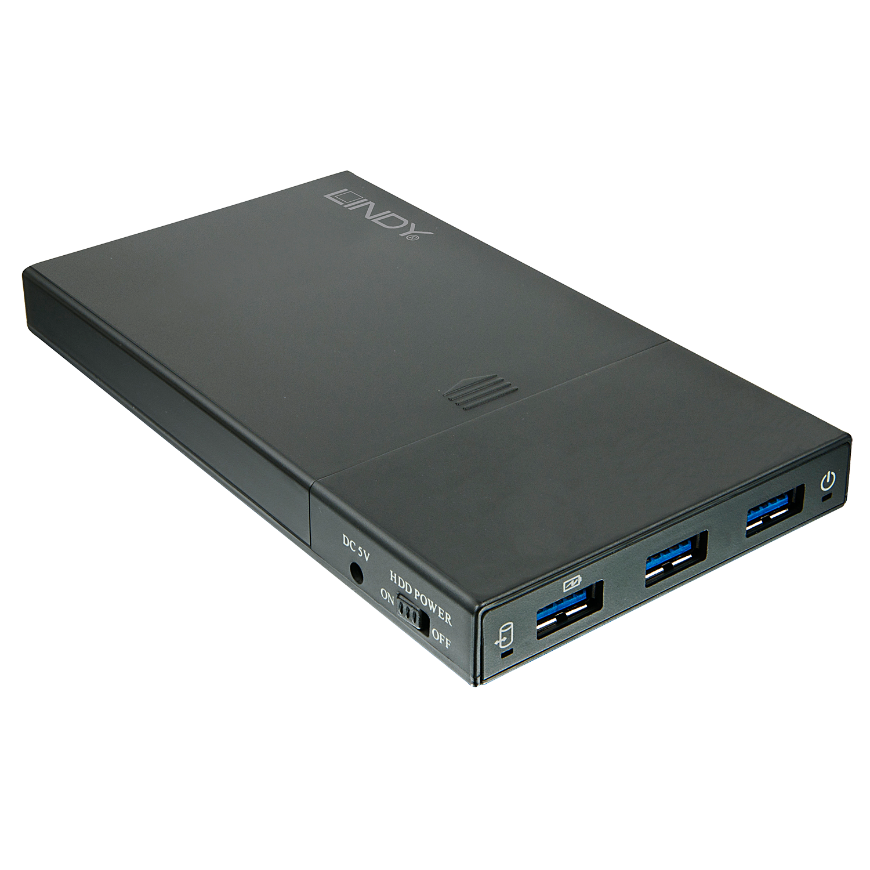 USB 3.1 SATA Gehäuse 2,5 mit 3 Port Hub