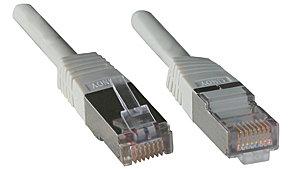 FTP Cat.5e Patchkabel, grau, Low Cost, 2 m