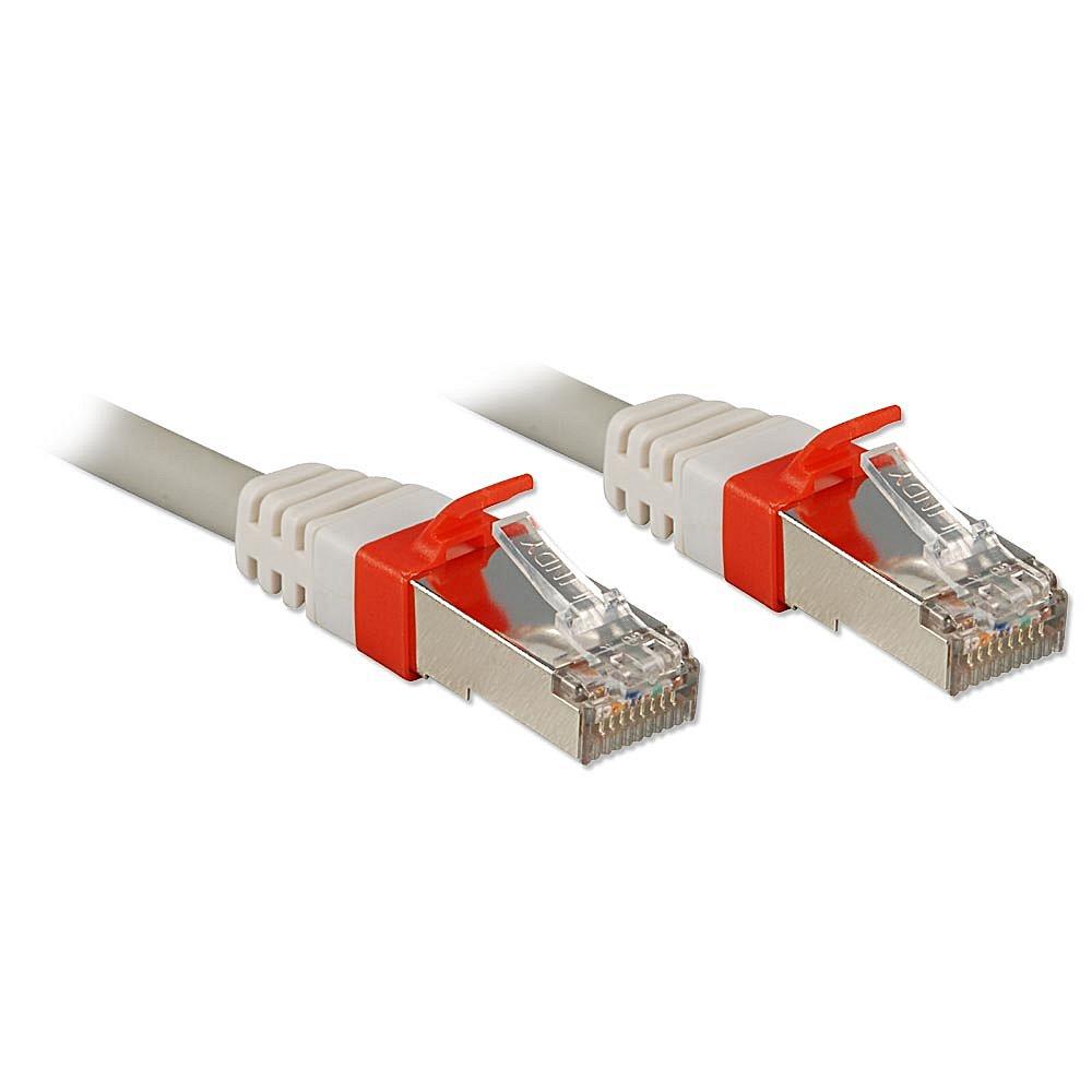 Cat.6 (A) SSTP / S/FTP PIMF Premium Patchkabel, 10 GBit, halogenfrei, grau, 15m