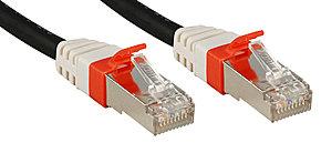 Cat.6 (A) SSTP / S/FTP PIMF Premium Patchkabel, 10 GBit, halogenfrei, schwarz, 50m