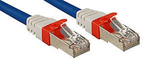 Cat.6 (A) SSTP / S/FTP PIMF Premium Patchkabel, 10 GBit, halogenfrei, blau, 3,0m