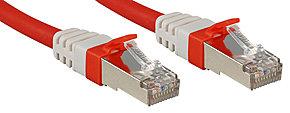 Cat.6 (A) SSTP / S/FTP PIMF Premium Patchkabel, 10 GBit, halogenfrei, rot, 0,5m