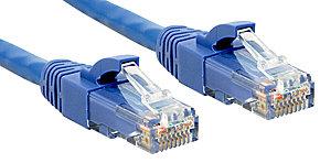 Cat.6 UTP Premium Patchkabel, halogenfrei, blau, 0,3m