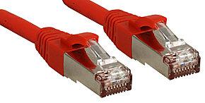 Cat.6 SSTP / S/FTP PIMF Premium Patchkabel, halogenfrei, rot, 0,5m